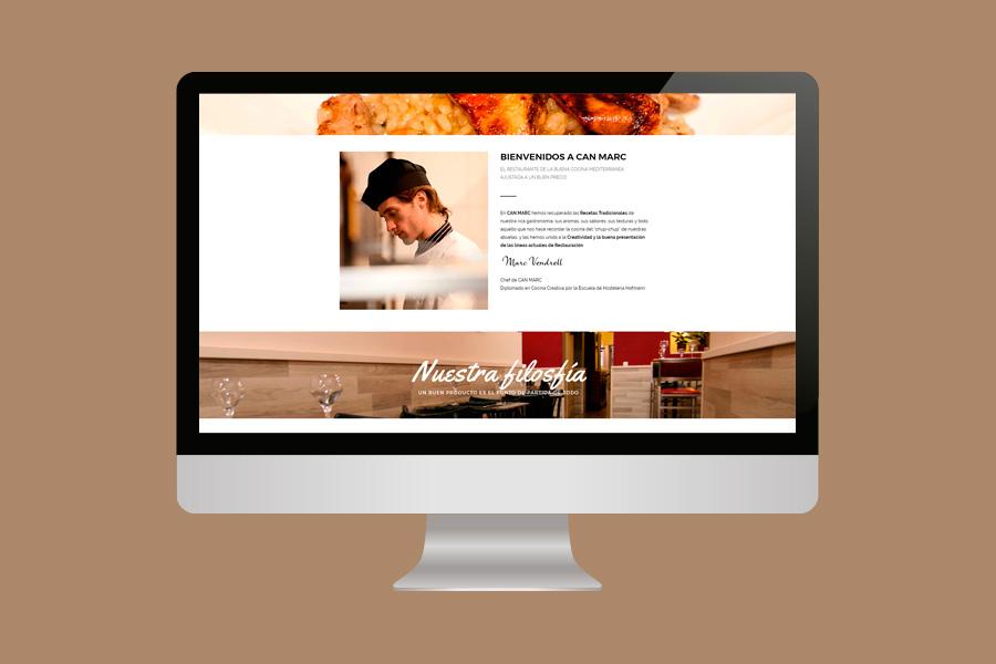 diseño pagina web restaurante