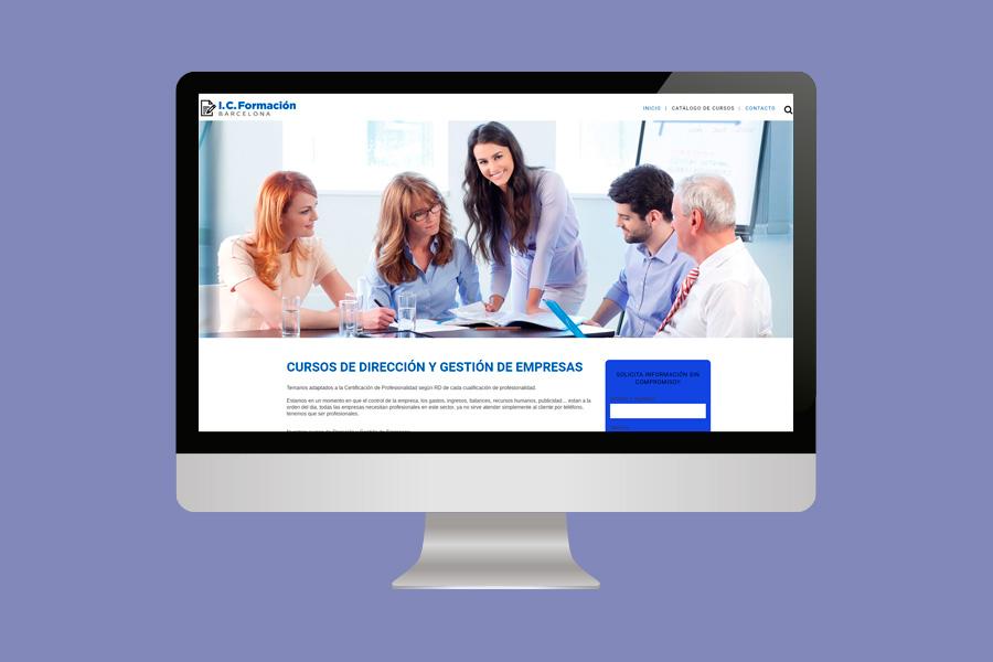 diseño pagina web empresa de formación